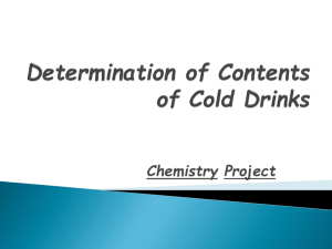 Determination of Contents of Cold Drinks