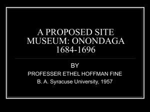 aproposed site museum