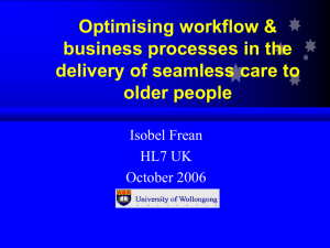 Optimising workflow & business processes in the delivery