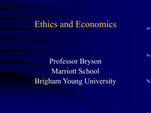 Ethics and Economics