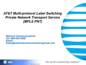 What is AT&T MPLS PNT? - National Communications Group