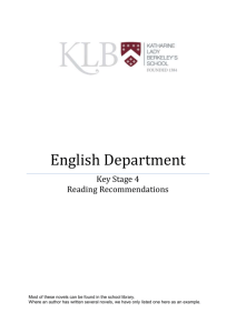 Key Stage 4 – Recommended Reading List