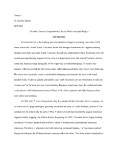 Victoria's Secret Analysis Final Paper