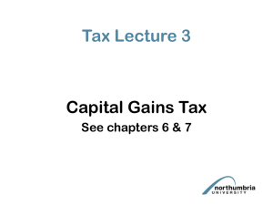 Capital Gains Tax PowerPoint