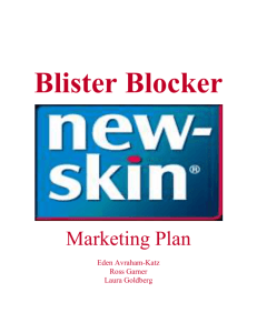 Blister Blocker Marketing Plan