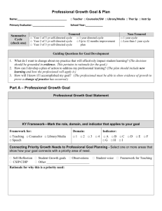 Professional Growth Plan (TPGES/OPGES)