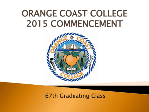 Orange Coast College Commencement 2015