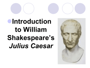Julius Caesar Drama Terms and Themes