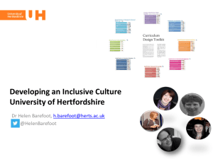 Feedback from University of Hertfordshire HEA Project