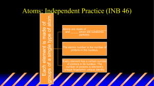 Atoms: Independent Practice (INB 46)