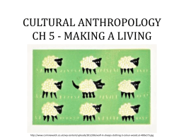 CULTURAL ANTHROPOLOGY CH 5