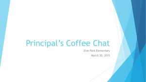Principal*s Coffee Chat