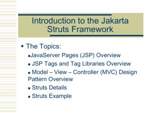 Introduction to the Jakarta STRUTS Framework