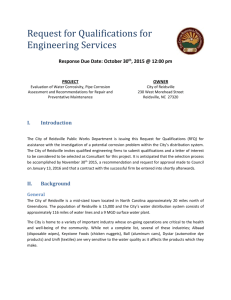 RFQ - Engineering Services/Corrosion Study