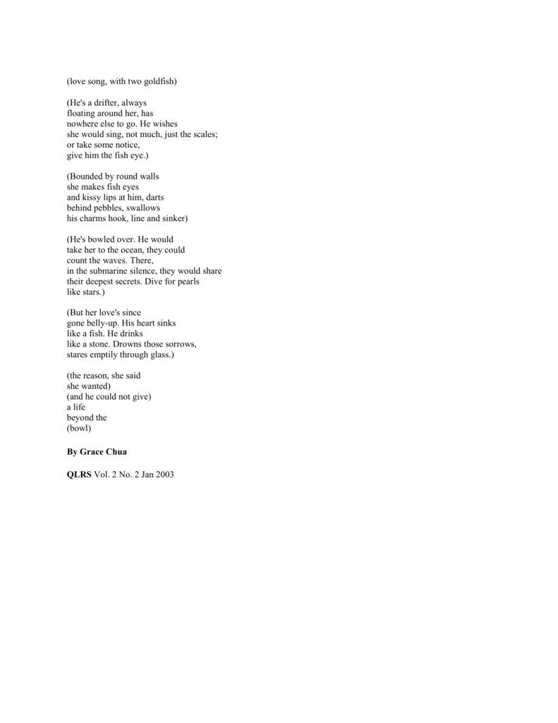 drifters poem analysis