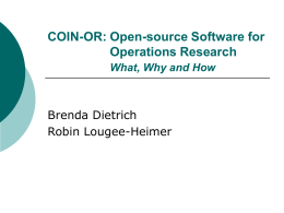 Open-source software for Operations Research