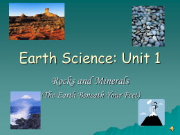 Earth Science: Unit 1