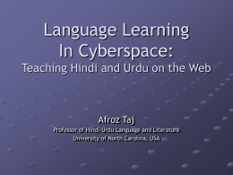 Teaching Language and Culture in Cyberspace