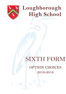 A Level Option Booklet 2016 – 2018