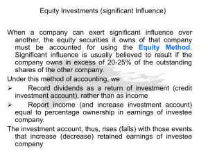 Equity Investments (significant Influence)