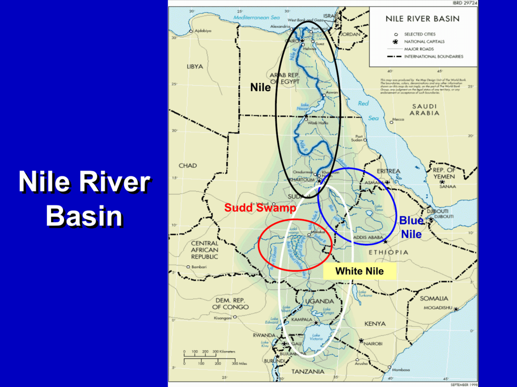 Blue Nile River In Africa Map.Nile River Basin Case Study