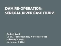 DAM REOPERATION SENEGAL RIVER CASE STUDY