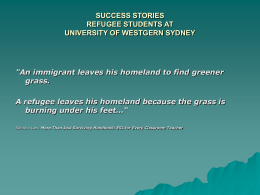 success stories refugee students at university of westgern sydney