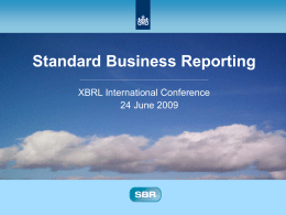 PaulMadden - archive of XBRL conferences