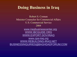 Doing Business in Iraq
