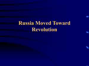 Russia Moved Toward Revolution