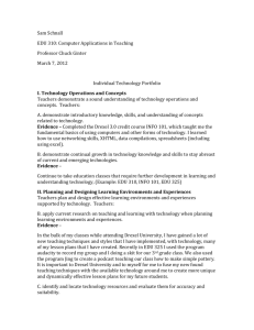 individual technology portfolio sam - IntegratingTech310-12