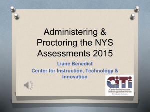 CITI 3-8 Proctoring of NYS Assessments PowerPoint