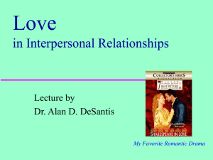 Love in Interpersonal Relationships