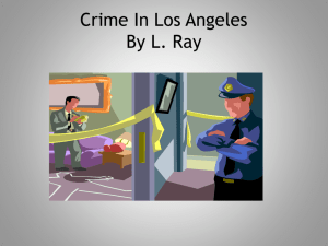 Crime In Los Angeles By L. Ray