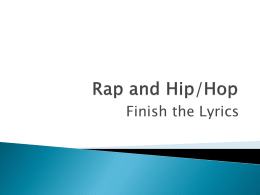 Rap and Hip/Hop