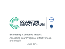 Evaluating Collective Impact Presentation