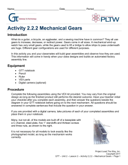 Activity 2.2.2 Mechanical Gears Introduction