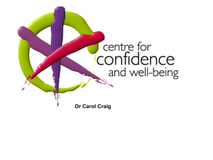Carol Craig - 14 March 2011 - Centre for Confidence and Well