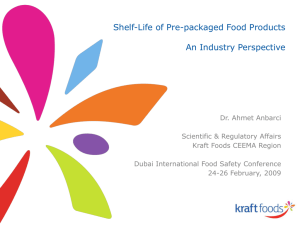 Kraft Foods Template - Dubai International Food Safety Conference