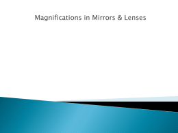 Magnification in Mirror & Lenses