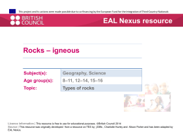 Rock posters - igneous  - EAL Nexus