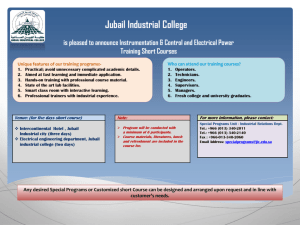 DC/AC Drive Systems - Jubail Industrial College