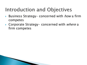Chapter 7. Corporate Strategy (Team 1 10/28)