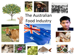 The Australian food industry