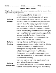 Rome Terms Activity Key