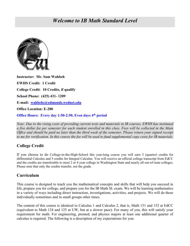 IBSL Syllabus 2015-16 IBSL Syllabus 2015-16
