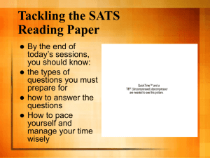 Tackling the SATS Reading Paper