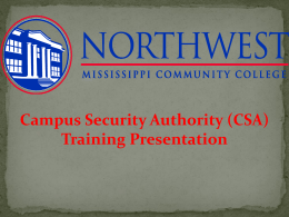 HOW TO REPORT - Northwest Mississippi Community College