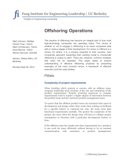 Offshoring Operations - Δ Innovation Engineering