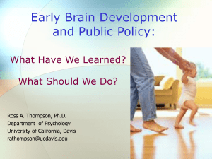 Early Brain Development, Relationships, and Stress